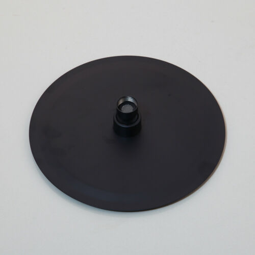Wall Mount Matte Black Rain Shower Faucet Round Head Valve Hand Held Mixer Taps