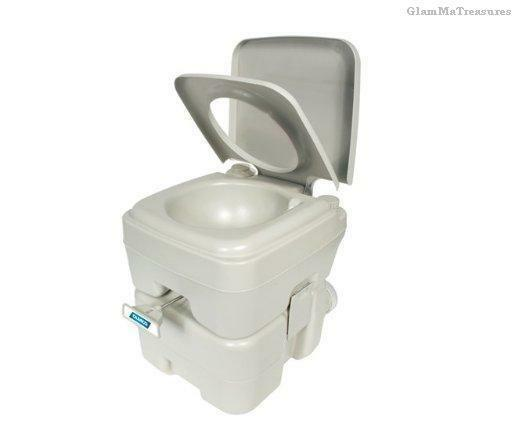 Portable Toilet Urinal Flush Tank Emergency Outdoor Camping RV Port-A-Potty 5.3
