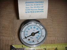New Vintage Johnson Controls 30 Psi Gauge 2 Face G 2010 11