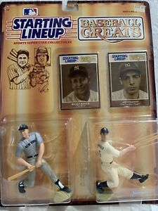 Starting Lineup 1989 2 Figure MLB Baseball Greats Mickey Mantle Joe DiMaggio Set