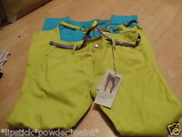Primark 2 Pairs Of Skinny Jeans Green & Light Blue With Belts Size14- 16