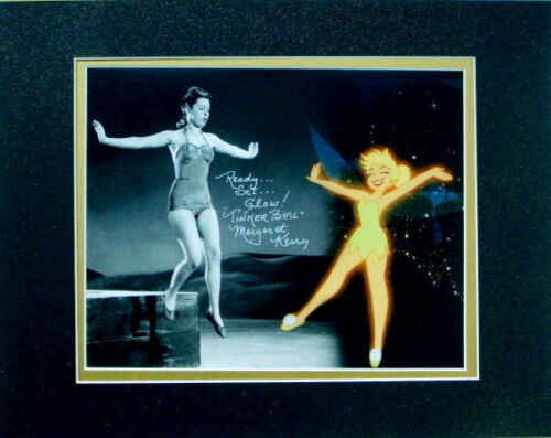 Disney Tinker Bell Composite Photo w//Glittered Mat Autographed  Margaret Kerry