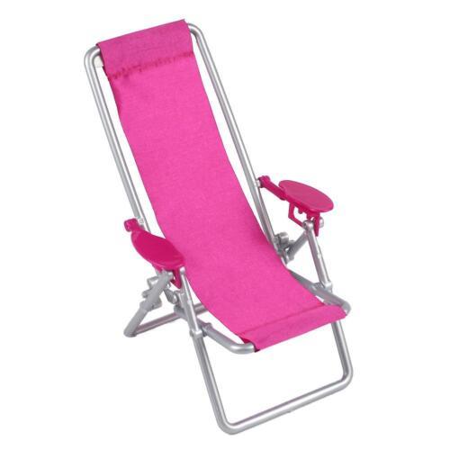 Doll House Furniture transat Miniature Lounge plage chaise pour 30 cm Poupées Fille