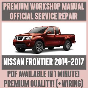 workshop manual service repair guide for nissan frontier 2014 2017 rh ebay co uk nissan frontier repair manual free nissan frontier repair manual free