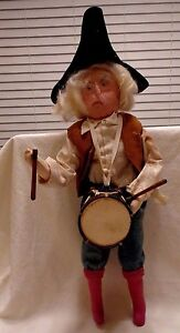 HANDMADE CIVIL WAR DRUMMER DOLL CLOTH WITH WIRED ARMS AND LEGS
