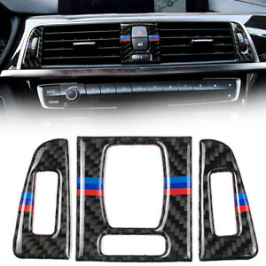 Carbon-Fiber-Inner-Front-Air-Vent-Panel-Trim-Sticker-For-BMW-3-Series-4-F30-F31
