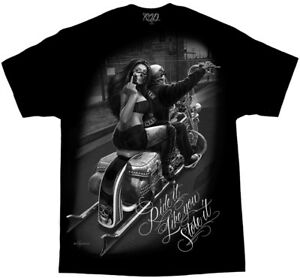 David-Gonzales-Art-DGA-Ride-Or-Die-Ride-It-Like-You-Stole-It-Mens-T-Tee-Shirt