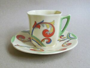 ROYAL-DOULTON-SYREN-D5102-COFFEE-CUP-amp-SAUCER-ART-DECO-Ref5491