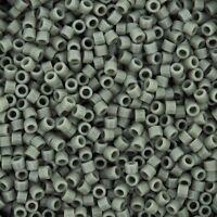 Miyuki Delica Seed Beads Size 11/0 Opaque Grey 7.2g-tube (db731)