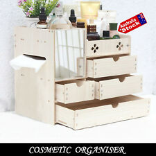 MAKEUP COSMETIC ORGANISER JEWELRY STORAGE GIFT BOX DRAWER CASE MIRROR CABINET