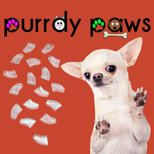 DOGS Purrdy Paws BRAND JUMBO SIZE CLEAR Soft Nail Caps For DOG Claws XXXL
