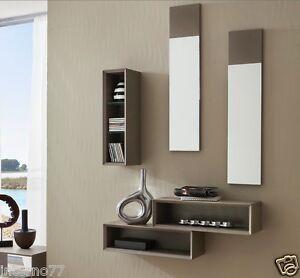 Mobile moderno ingresso mod lego 603 bianco opaco o tortora consolle specchio ebay - Specchio ingresso moderno ...