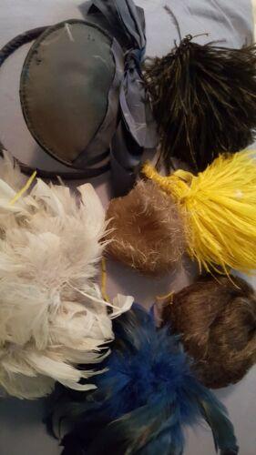 VTG/ANTIQ MILLINERY HAT SPRAY PLUMES HAIR PIECE M… - image 1