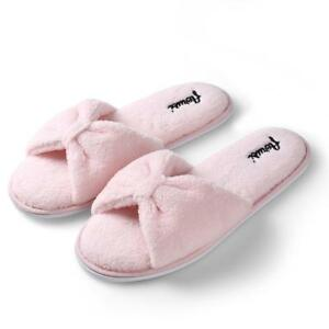 948574c5628f Details about Aerusi Girl Winter Indoor Shoes House Warm Fringe Plush Cozy  Slide Slipper 6-10