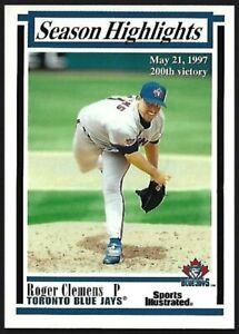 ROGER-CLEMENS-1997-FLEER-Sports-Illustrated-SEASON-HIGHLIGHTS-Blue-Jays-30