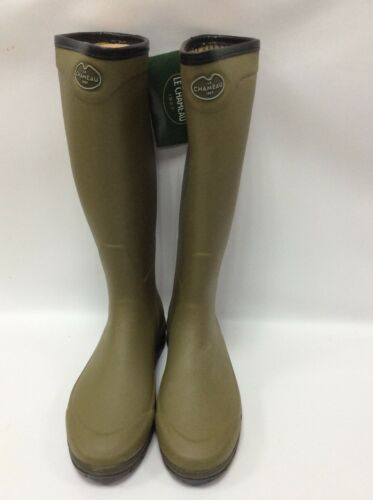 Le Chameau Country Vibram Wellington Boots UK 10 Green