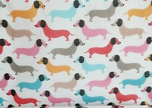 Bundle Remnant Polycotton Fabric 75 cm x 100 cm Red Cats /& Dog Pet Animal Piece