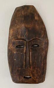 Antique Primitive Handmade Carved Tribal Ceremonial Wooden Mask Rich Patina
