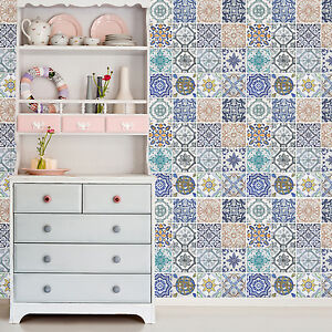Decoration Spanish Tiles Home Family Mosaic Décor Wall Stickers