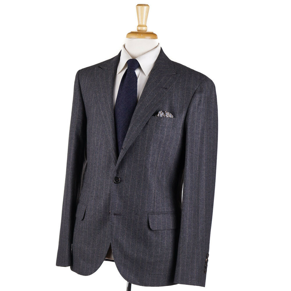 NWT 3695 BRUNELLO CUCINELLI Peak Lapel Soft Wool-Silk-Cashmere Sport Coat 40 R