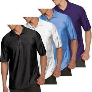 Antigua-Golf-Mens-Illusion-Shorts-Sleeve-Performance-Polo-Shirt