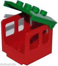 Lego ® duplo ferrocarril cabina asiento rojo/verde Railroad train nuevo