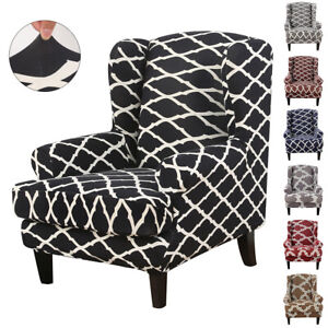 Wing-Back-Slipcover-Stretch-Wingback-Armchair-Chair-Cover-Waterproof-Protector