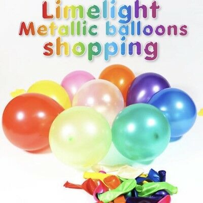 "20 METALLIC PLAIN12/"" BALOONS BALLONS HELIUM BALLOONS QUALITY BIRTHDAY WEDDING UK"