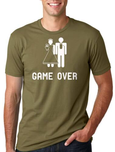 Game over T-shirt Engagement Wedding Tee Shirt Funny Gift for Fiancee