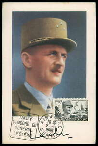 FRANCE-MK-1948-LECLERC-GENERAL-MAXIMUMKARTE-CARTE-MAXIMUM-CARD-MC-CM-cn51