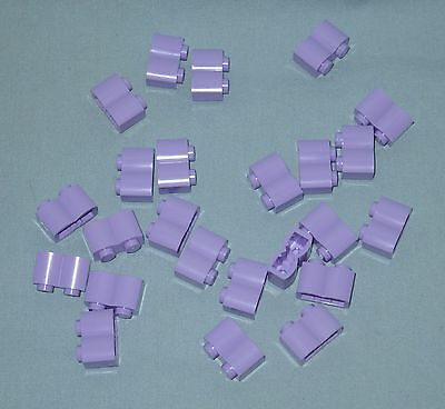*******24 NEW LEGO LAVENDER MODIFIED 1 X 2 LOG PIECES*******