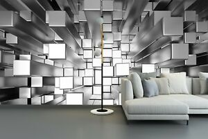 3D-Abstract-Squares-Extruded-Bedroom-Wall-Murals-Wallpaper-Painting-Home-Decor