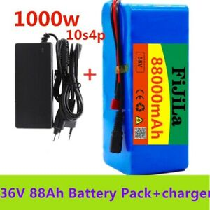 Electric E Bike Scooter Rechargeable Li-ion 500w Battery & Charger 36v 88000mah