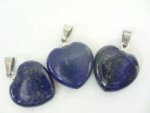 Ein-edler-20-mm-Lapis-Lazuli-Herz-Ketten-Anhaenger-mit-Edelstahl-Schlaufe