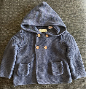 Baby Girl ZARA Cable Knit Sweater, 9/12 Months, Blue ...