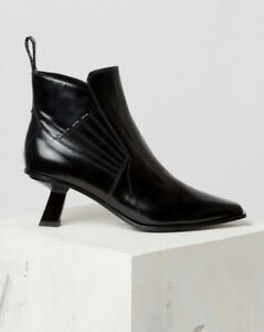 Kenzo Rider Black Leather Ankle Boots