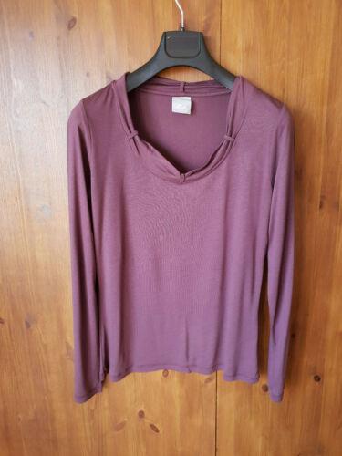 RRP £ 79-LA POESIA T-Shirt Scuro Viola Jersey Top UK 10 14 18 20 22-NUOVO