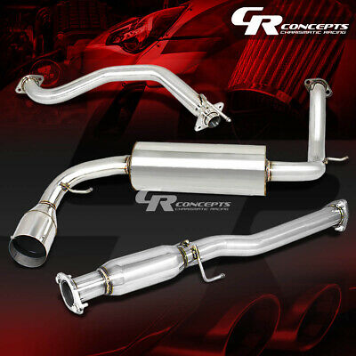 """FOR 88-91 CR-X 3DR ED 4.5/""""MUFFLER TIP PERFORMANCE CATBACK+HIGH FLOW EXHAUST PIPE"""