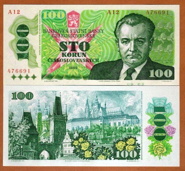Czechoslovakia, 100 Korun, 1989, P-97, Ch. UNC > the last