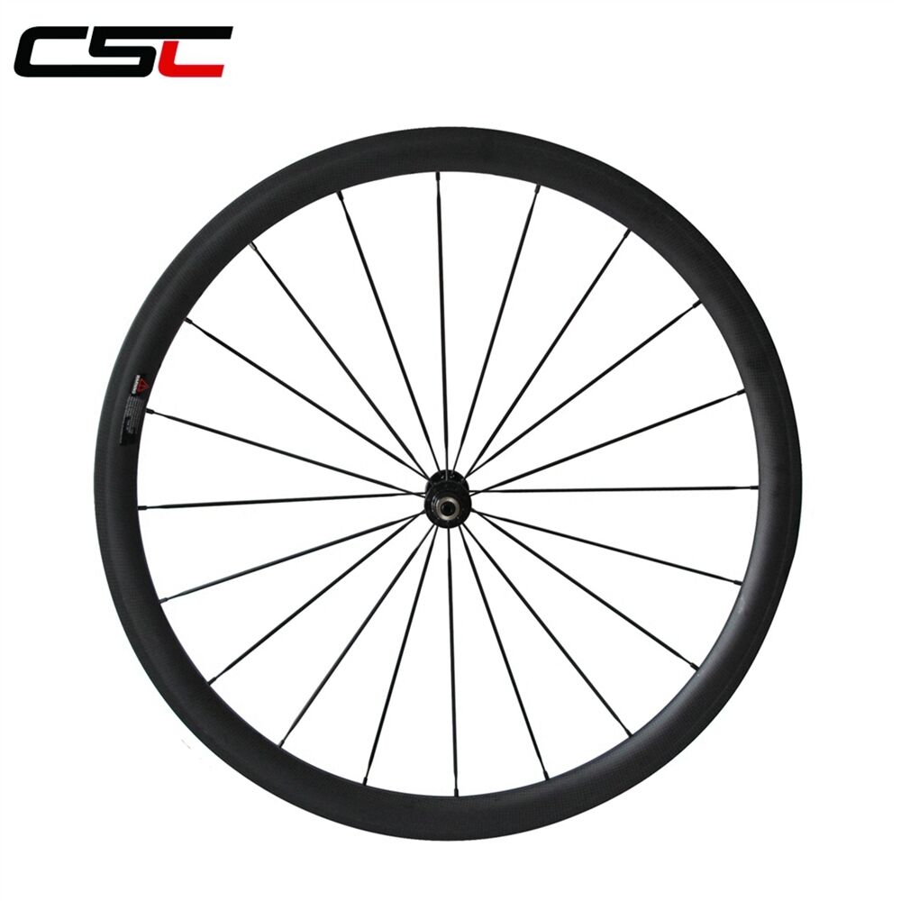 U Shape 25mm width 38mm Clincher front carbon bicycle road SAT wheelset