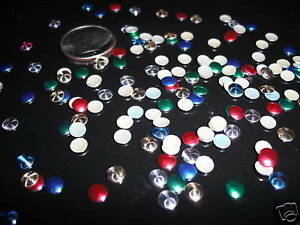 D00159 100-Nailheads, Round, Hotfix, 5mm, MIXED