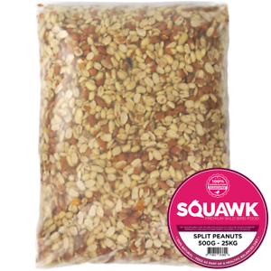 SQUAWK Split Peanuts - Wild Bird Premium Grade Garden Birds Fresh Food Mixture
