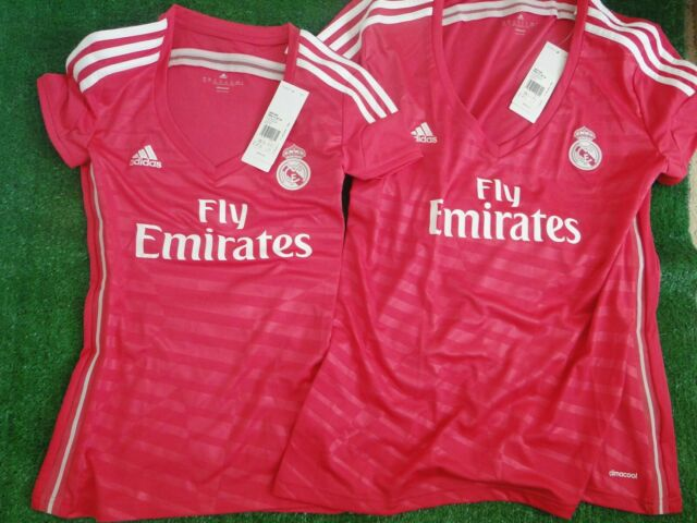 d9d30f7ea REAL MADRID    WOMENS   AWAY PINK SHIRT BNWT SIZE XXSMALL AND EXTRA LARGE
