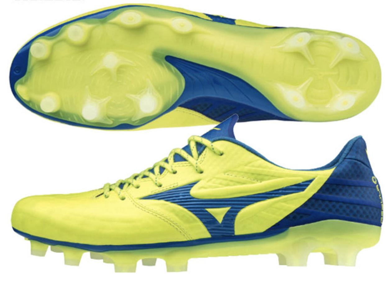 Mizuno Japan REBULA 3 ELITE Football Soccer scarpe Kangaroo P1GA1962 giallo blu
