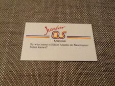 Pele / Junior A Question of Sport game card 1990 #183 football Brazil