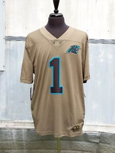 timeless design 1e8a4 972dc Details about Nike Limited Jersey Carolina Panthers Cam Newton Olive Sewn  Salute to Service XL