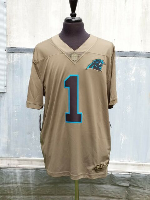 acef60ce8 Nike Limited Jersey Carolina Panthers Cam Newton Olive Sewn Salute to  Service XL