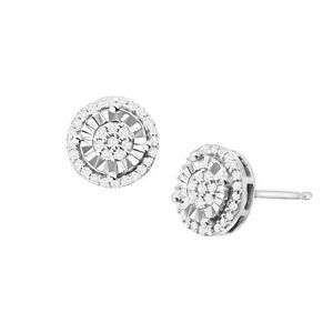 1-4-ct-Diamond-Halo-Stud-Earrings-in-Sterling-Silver