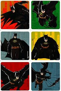 Details About Batman Stickers X 6 Birthday Party Favours Foil Loot Bag Ideas Dc Comics