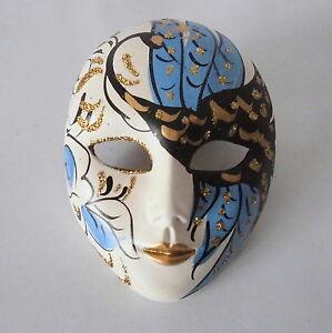 Venezianische-Maske-handgemalt-mit-Aufhangung-Keramik-Venedig-Venice-Mask
